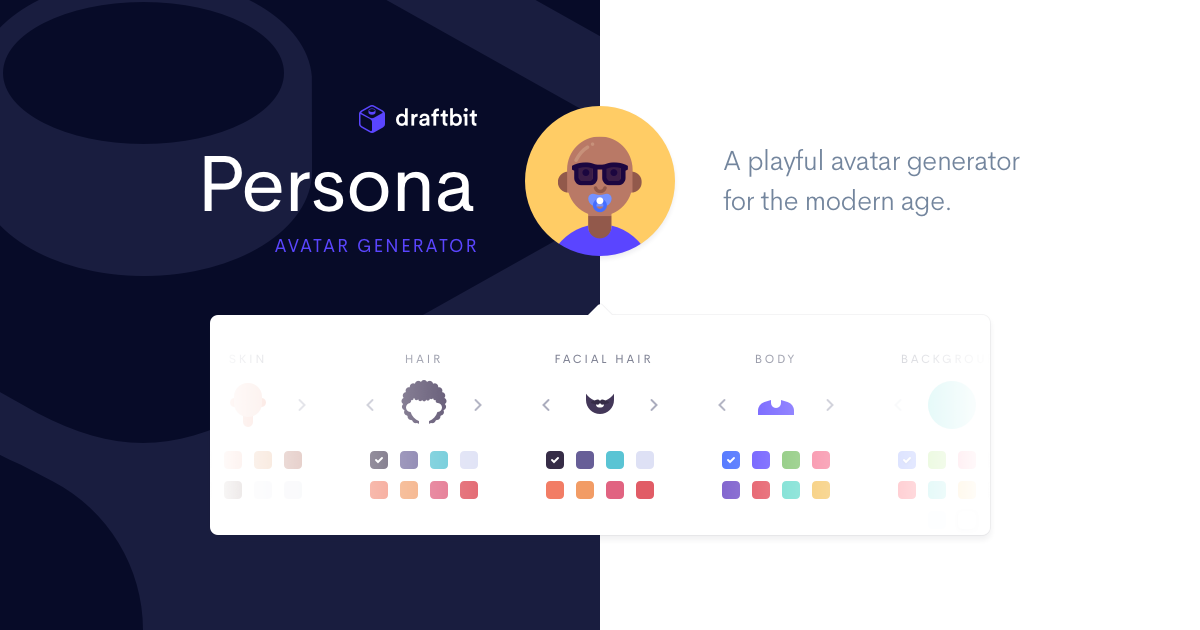 Personas by Draftbit | A playful avatar generator for the modern age